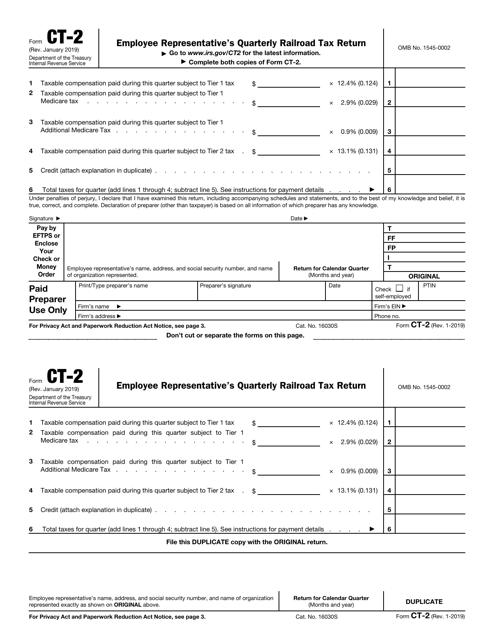 IRS Form CT-2  Printable Pdf