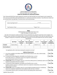 """Child Care Standards for Unlicensed Facilities"" - Arizona"