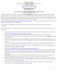 """Arizona Liquor License Renewal Instructions"" - Arizona"