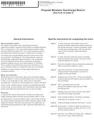 "Form DR0526 ""Prepaid Wireless Surcharge Return"" - Colorado"