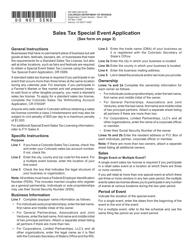 "Form DR0589 ""Sales Tax Special Event Application"" - Colorado"