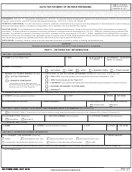 "DD Form 2656 ""Data for Payment of Retired Personnel"""