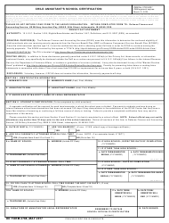 "DD Form 2788 ""Child Annuitant's School Certification"""