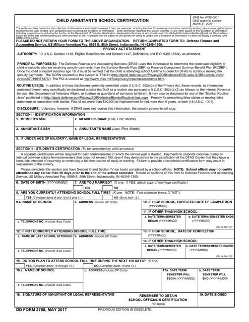 DD Form 2788 Printable Pdf