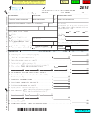 "Form 1 ""Wisconsin Income Tax"" - Wisconsin, 2018"