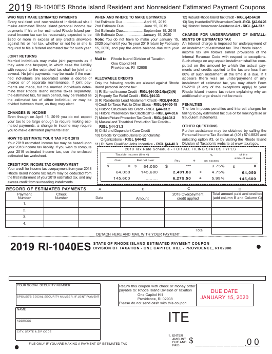 irs estimated payment coupons 2018