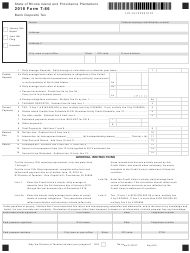 Form T-86 2018 Bank Deposits Tax - Rhode Island