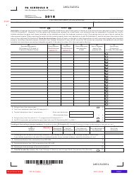 Form PA-40 2018 Schedule D - Sale, Exchange or Disposition of Property - Pennsylvania