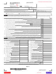 Form PA-40 Schedule F - Farm Income and Expenses - Pennsylvania