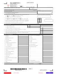 """Form PA-40 Schedule C """"Profit or Loss From Business or Profession (Sole Proprietorship)"""" - Pennsylvania"""