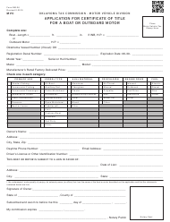 OTC Form BM-26 Application for Certificate of Title for a Boat or Outboard Motor - Oklahoma