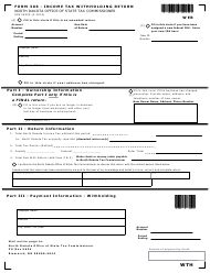"Form 306 (SFN28229) ""Income Tax Withholding Return"" - North Dakota"