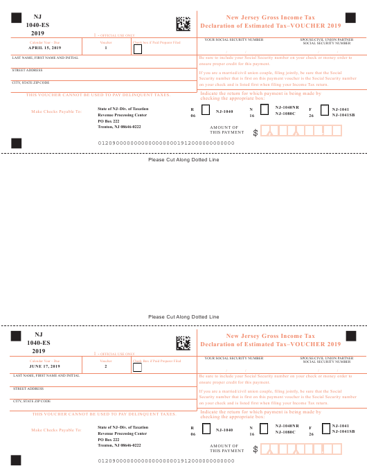 new jersey corporate estimated tax voucher