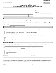 "Form 80-340 ""Affidavit for Reservation Indian Income Exclusion From Mississippi State Income Taxes"" - Mississippi"