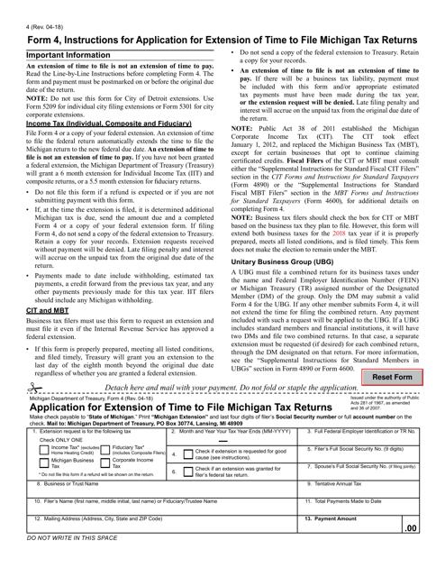 Form 4  Printable Pdf