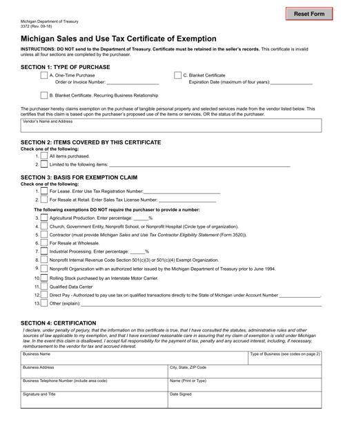Form 3372  Printable Pdf