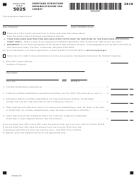 "Form COM/RAD031 (Maryland Form 502S) ""Heritage Structure Rehabilitation Tax Credit"" - Maryland, 2018"