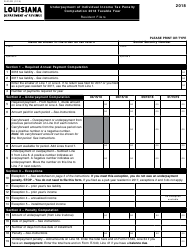 "Form R-210R ""Underpayment of Individual Income Tax Penalty"" - Louisiana, 2018"