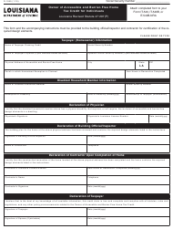 "Form R-1089 ""Owner of Accessible and Barrier-Free Home Tax Credit for Individuals"" - Louisiana"