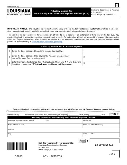 Form R-6466V 2018 Printable Pdf