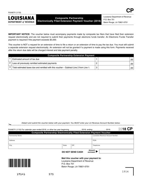 Form R-6467V 2018 Printable Pdf