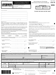 "Form R-1201 (L-1) ""First Quarter Employer's Return of Louisiana Withholding Tax"" - Louisiana, 2019"