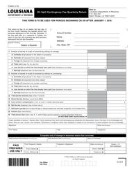 "Form R-9004 ""Oil Spill Contingency Fee Quarterly Return"" - Louisiana"