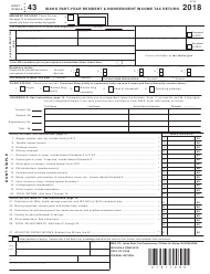 "Form EFO00091 (43) ""Idaho Part-Year Resident & Nonresident Income Tax Return"" - Idaho, 2018"
