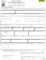 Form BB-1 Basic Business Application - Hawaii