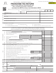 Form F-1 2019 Franchise Tax Return - Banks, Other Financial Corporations, Andsmall Business Investment Companies - Hawaii