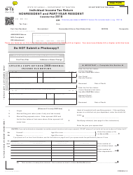 "Form N-15 ""Individual Income Tax Return - Nonresident and Part-Year Resident"" - Hawaii"