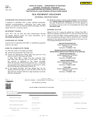 Form VP-1 Tax Payment Voucher - Hawaii