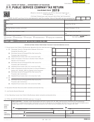 Form U-6 2019 Public Service Company Tax Return - Hawaii