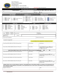 """Boat Registration Application"" - Delaware"