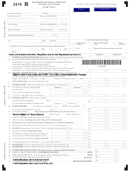 """Form 200-01 """"Individual Resident Income Tax Return"""" - Delaware, 2018"""
