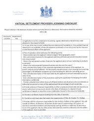 "Form 3B ""Request for Viatical Settlement Provider License"" - Delaware"