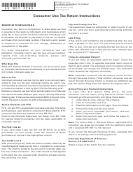 "Form DR0252 ""Consumer Use Tax Return"" - Colorado"