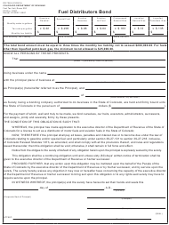 "Form DR7065 ""Fuel Distributors Bond"" - Colorado"