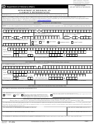 "VA Form 21-22A ""Appointment of Individual as Claimant's Representative"""