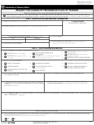 """VA Form 22-1995 """"Request for Change of Program or Place of Training"""""""