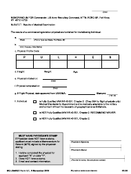 """HQ USAREC Form 3.1 """"Cover Sheet (Results of Medical Examination)"""""""