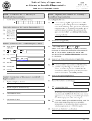DHS Form G-28 Notice of Entry of Appearance as Attorney or Accredited Representative