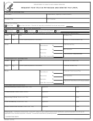 "Form HHS-691 ""Request for Title 38 Physician and Dentist Pay (Pdp)"""