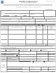 CBP Form 214 Application for Foreign-Trade Zone Admission and/Or Status Designation