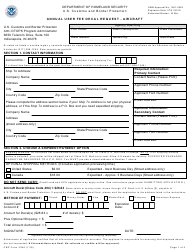 CBP Form 339A Annual User Fee Decal Request - Aircraft