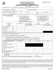 CBP Form 350 Harbor Maintenance Fee Amended Quarterly Summary Report