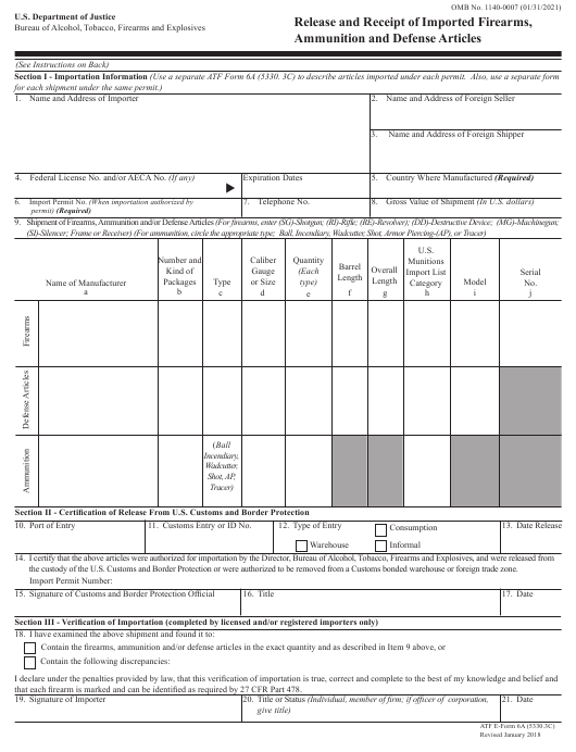 ATF Form 5330.3C (6A)  Printable Pdf