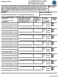 Form CM-911A Employment History