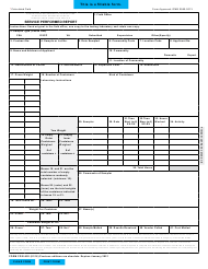 "Form FGIS-992 ""Service Performed Report"""