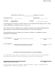 """""""Mining Lease Modification Form"""""""